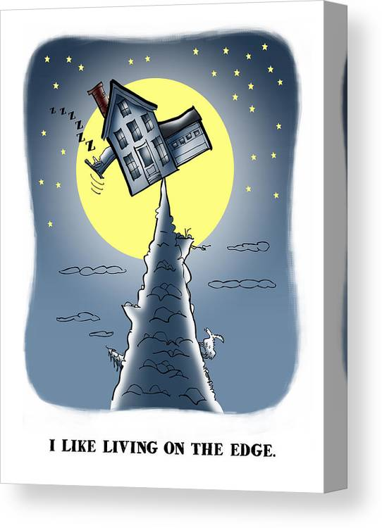 Scenic Canvas Print featuring the digital art Living On The Edge by Mark Armstrong