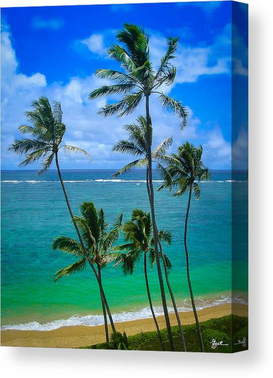 Palm Trees Canvas Print featuring the photograph Majestic Palm Trees by TK Goforth