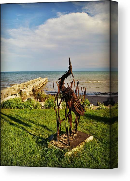 Collections By Carol Canvas Print featuring the photograph Marineres Trail Between Manitowoc And Two Rivers Wi by Carol Toepke