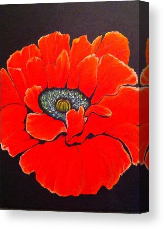 Poppy Canvas Print featuring the painting Poppy by Marissa Gullaba