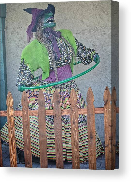 West Jordan Canvas Print featuring the photograph The Hula Hoop Witch by Image Takers Photography LLC - Carol Haddon