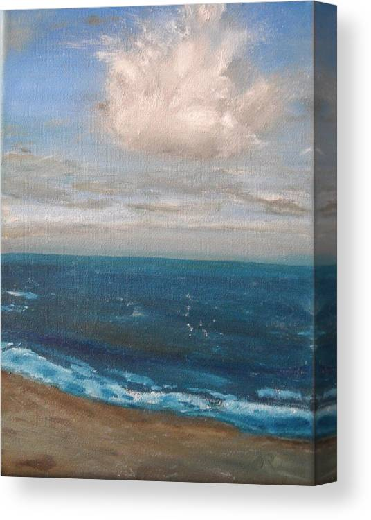 Beach Canvas Print featuring the painting Beach by Nicla Rossini