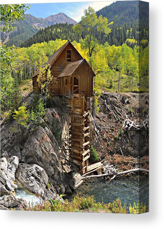Mill Canvas Print featuring the photograph Crystal Mill 4 by Marty Koch