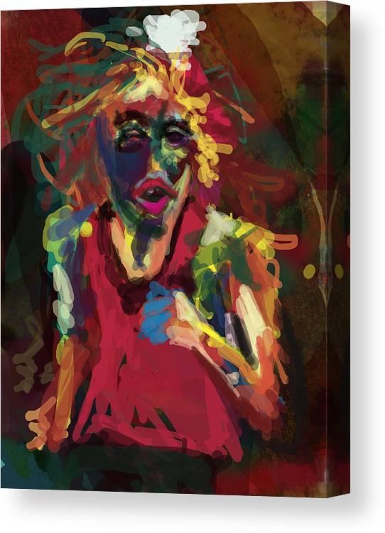 Run Canvas Print featuring the digital art Runner by James Thomas