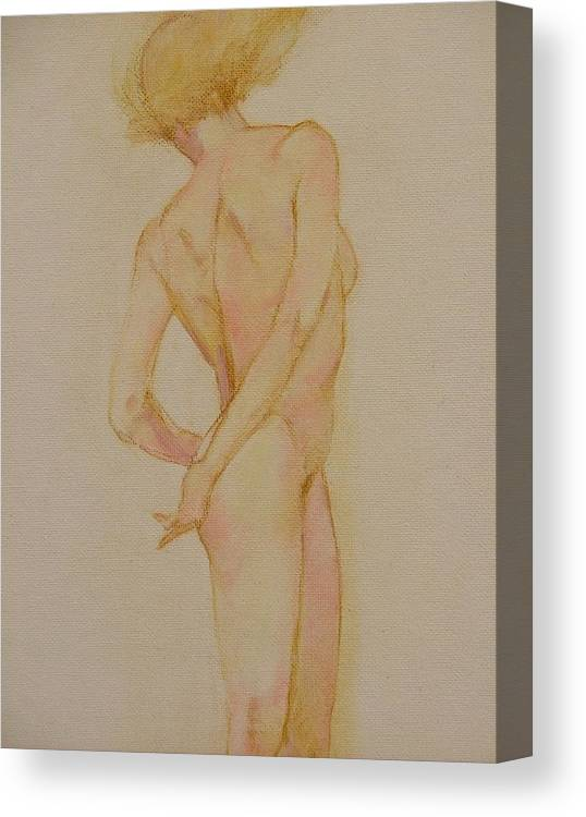 Nude Canvas Print featuring the painting Dance by Gary Kaemmer