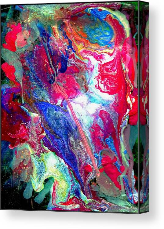 Flow Canvas Print featuring the painting Abstract - Evolution Series 1003 by Dina Sierra