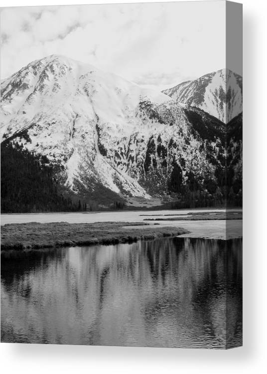Landscape Canvas Print featuring the photograph Alaska Reflection by Ty Nichols