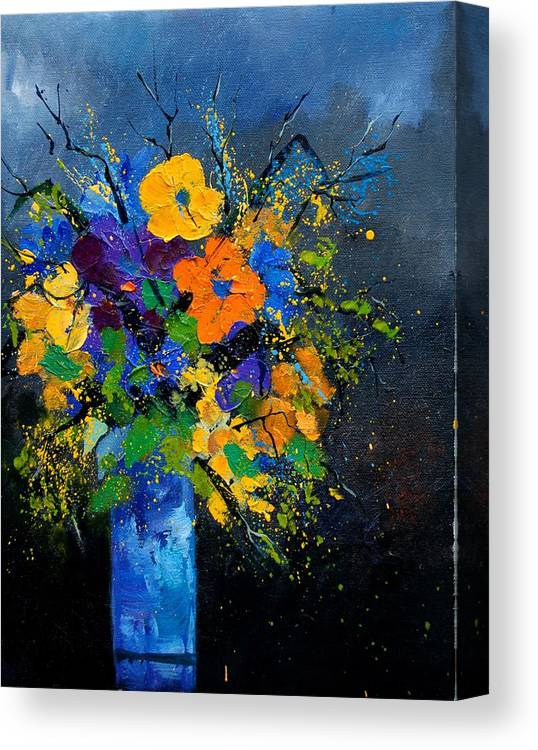 Poppies Canvas Print featuring the painting Bunch 1007 by Pol Ledent