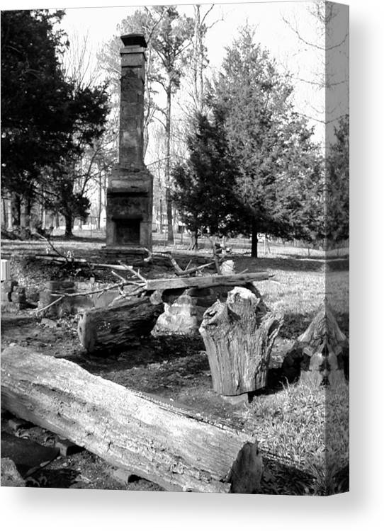 Canvas Print featuring the photograph Cindy Winslow Chimney by Curtis J Neeley Jr