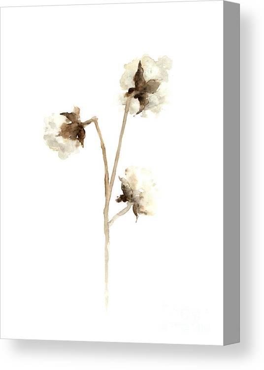 Cotton Canvas Print featuring the painting Cotton Fine Art Print by Joanna Szmerdt