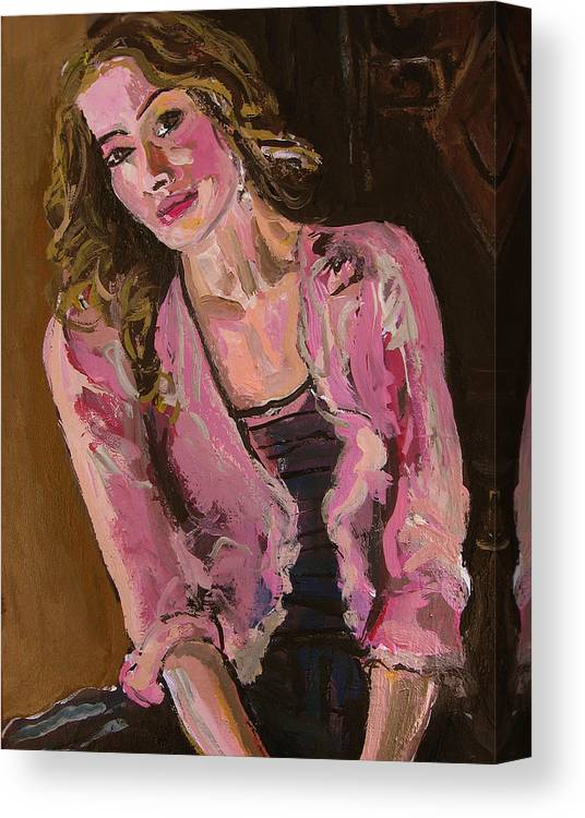 Girl Canvas Print featuring the painting Delikate by Adam Kissel