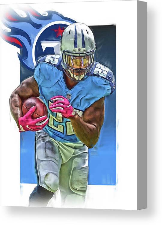 cf05563c ... france derrick henry canvas print featuring the mixed media derrick  henry tennessee titans jersey number 22 ...