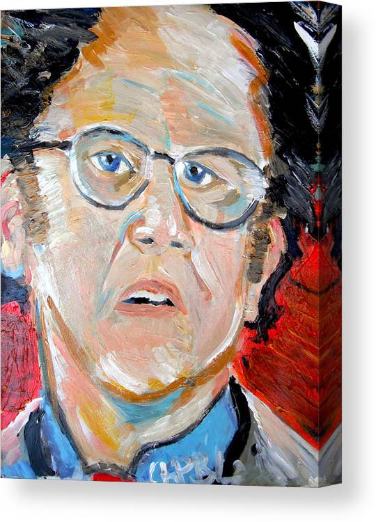 Steve Brule Canvas Print featuring the painting Dr. Steve Brule by Jon Baldwin Art
