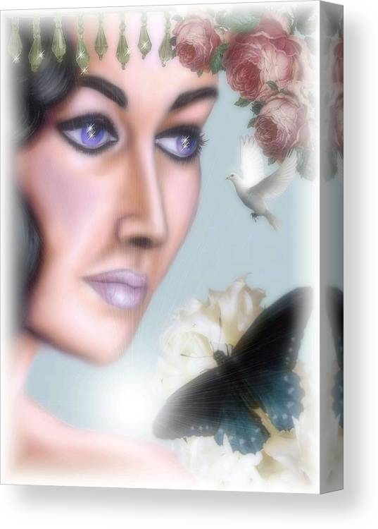 Elizabeth Taylor Canvas Print featuring the digital art Elizabeth Taylor by Scarlett Royal