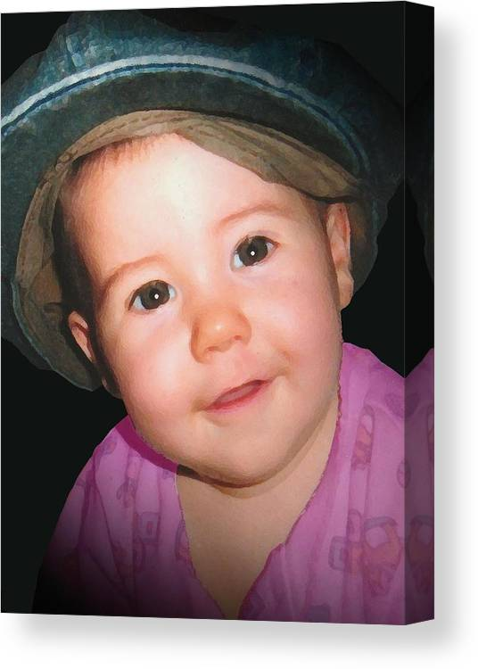 Child Canvas Print featuring the painting Erika by Tara Kearce