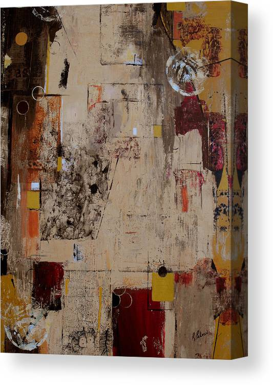 Abstract Canvas Print featuring the painting Fractions by Ruth Palmer