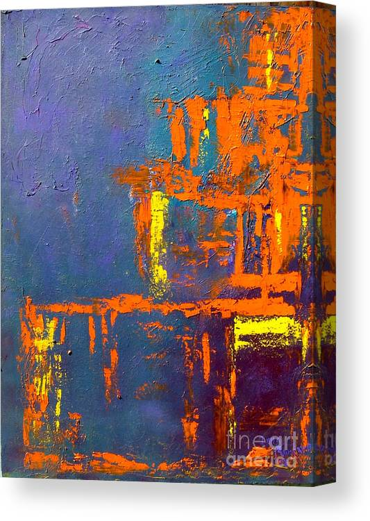 Abstract Canvas Print featuring the painting Geometry by Inna Montano