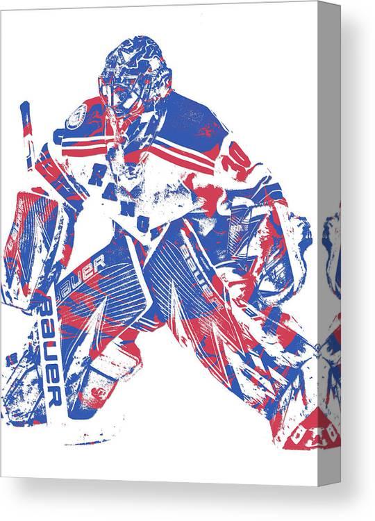 Henrik Lundqvist New York Rangers Pixel Art 8 Canvas Print Canvas