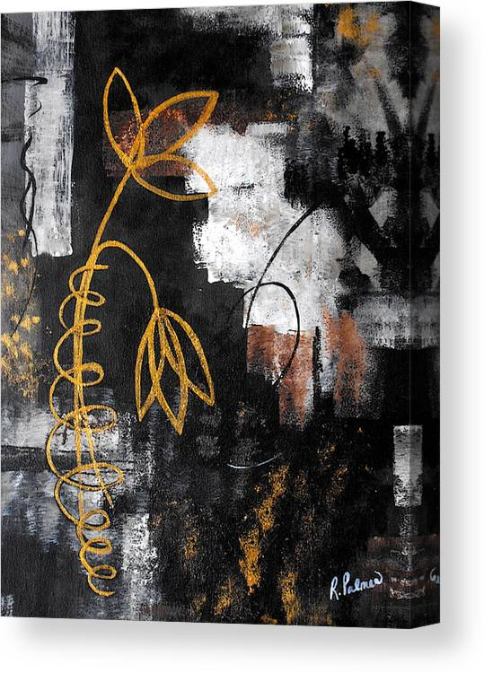 Abstract Canvas Print featuring the painting House Of Memories by Ruth Palmer
