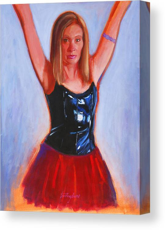 Woman Canvas Print featuring the painting Jesse by John Tartaglione