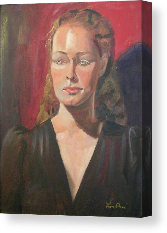 Portrait Canvas Print featuring the painting Lady Ann by Lilibeth Andre