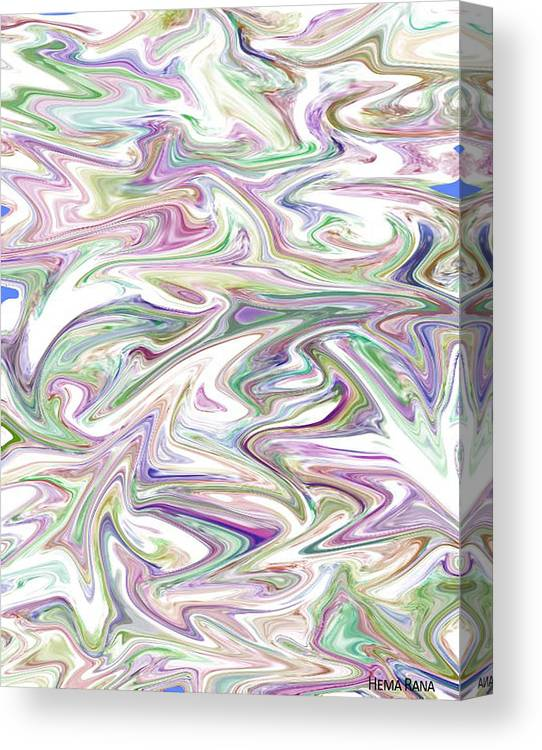 Marbled Pattern Canvas Print featuring the digital art Marbled Pattern 2 by Hema Rana