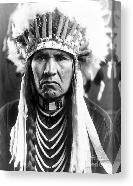 1910 Canvas Print featuring the photograph Nez Perce Native American - To License For Professional Use Visit Granger.com by Granger