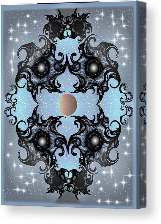 Fantasy Canvas Print featuring the digital art Night Sky by George Pasini