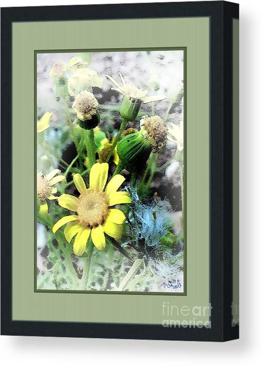 Flowers Canvas Print featuring the digital art Off Yellows by Mohd Smadi