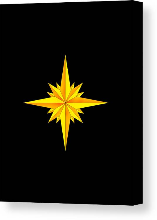 Compass Canvas Print featuring the painting One Brite And Shining Star by Anne Norskog