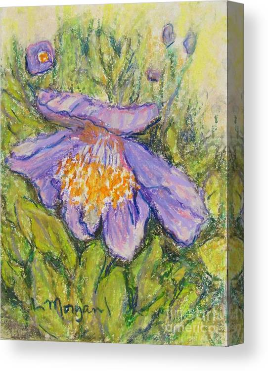 Poppy Canvas Print featuring the painting Purple Poppy by Laurie Morgan