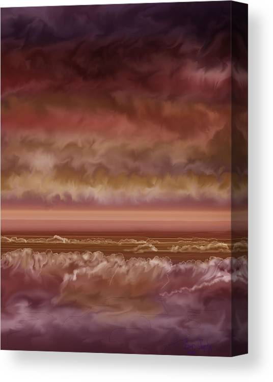 Sunset Canvas Print featuring the painting Red Sky At Night Sailor Delight by Anne Norskog