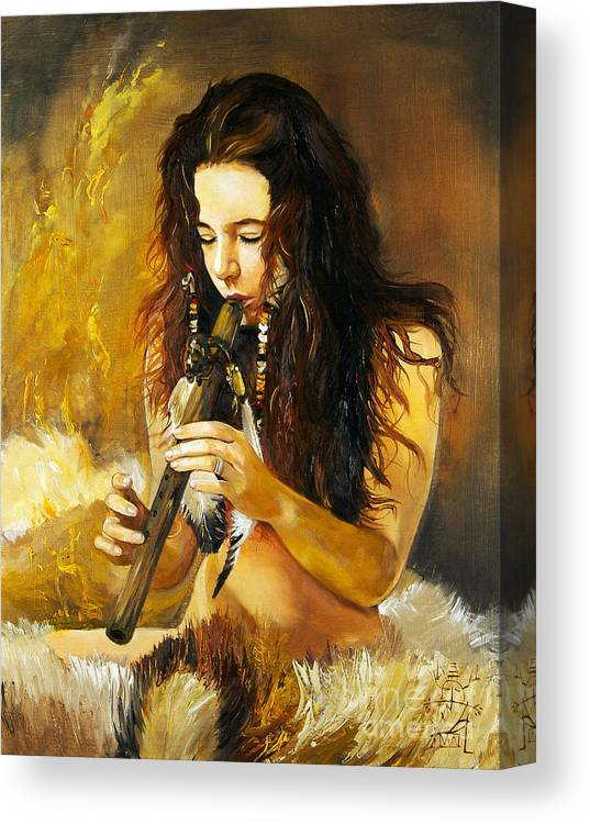 Woman Canvas Print featuring the painting Release by J W Baker