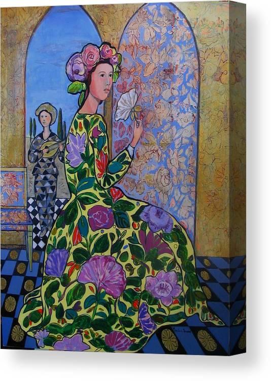 Remembering The Flower Door Canvas Print featuring the painting Remembering The Flower Door by Marilene Sawaf