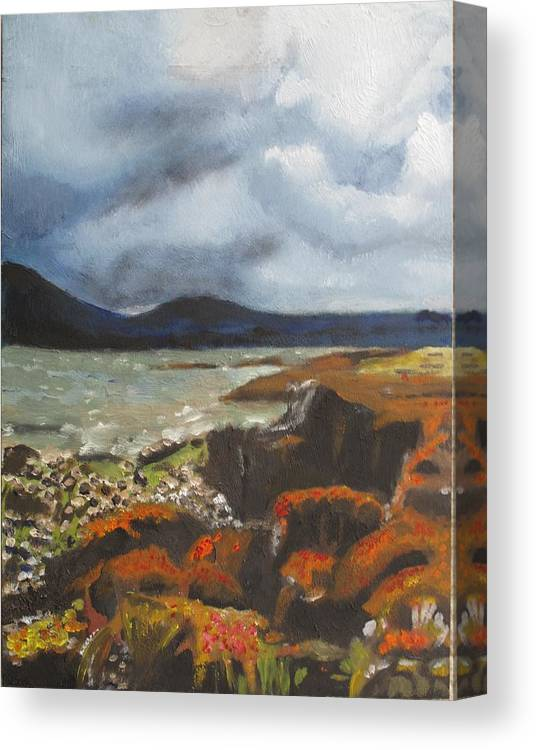 Scottland Canvas Print featuring the painting Scottish Lowlands by Keith Bagg