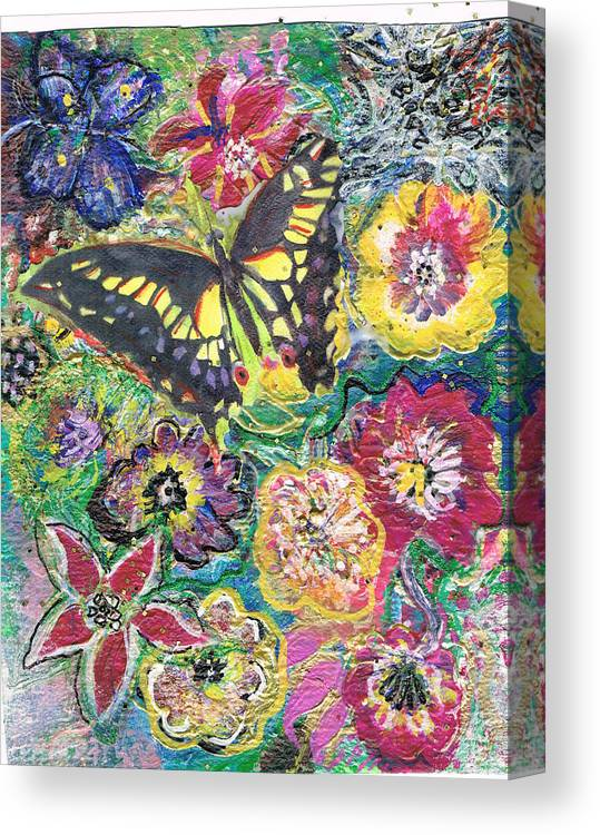 Flowers Canvas Print featuring the painting So Many Flowers So Little Time by Anne-Elizabeth Whiteway
