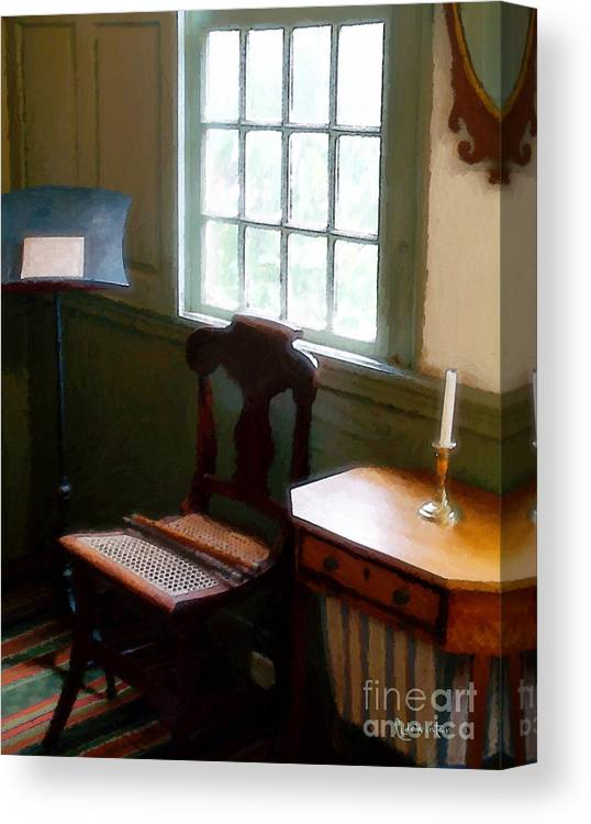 Still Life Canvas Print featuring the painting Still Life, Stevens House by RC DeWinter