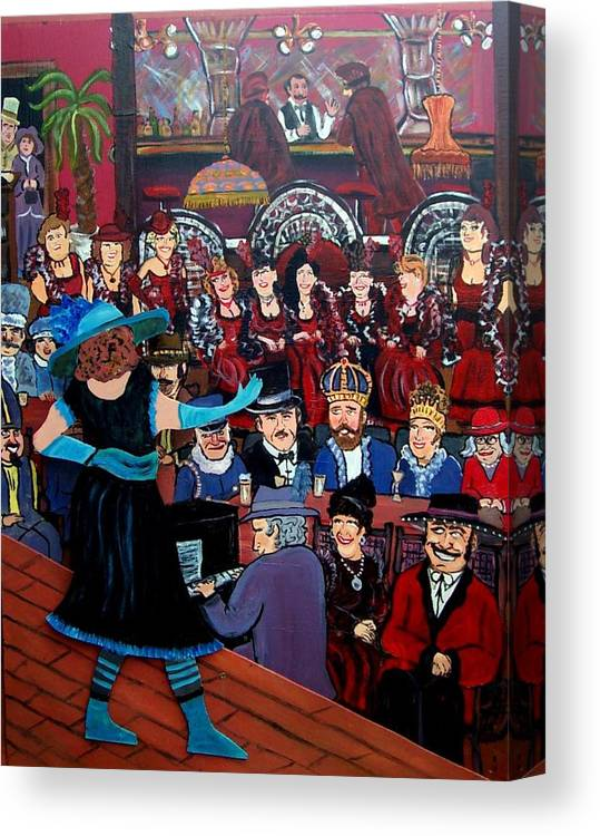 St. Paul Winter Carnival Canvas Print featuring the painting The Competition by Richard Hubal
