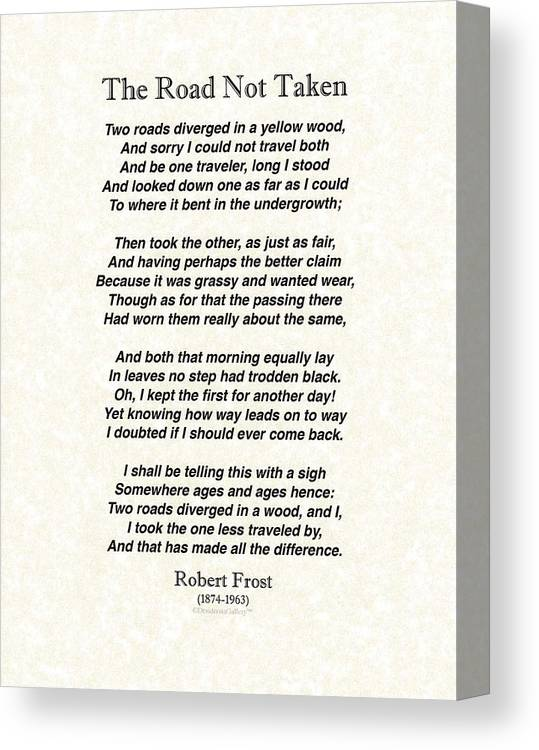 robert frost the road not taken biographical analysis