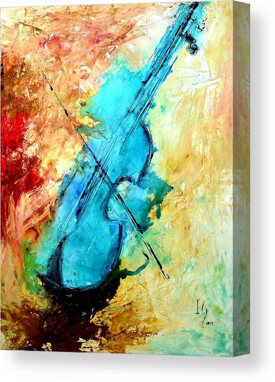 Music Canvas Print featuring the mixed media The Sound by Ivan Guaderrama