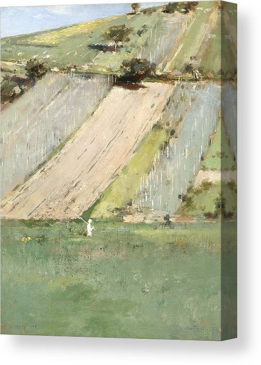 Theodore Robinson Canvas Print featuring the painting Valley Of The Seine, Giverny by Theodore Robinson