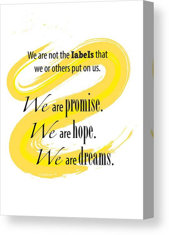 Promise Canvas Print featuring the digital art We Are by Suni Moon