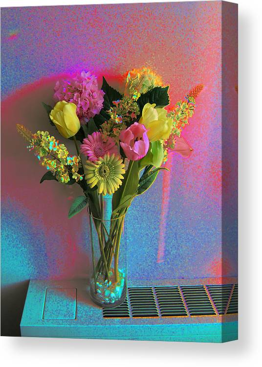 Modern Digital Art Canvas Print featuring the photograph Wedding Flowers by Monica Smith