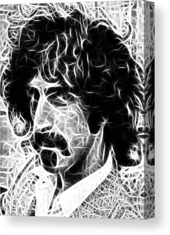 Frank Zappa Canvas Print featuring the digital art Zappa by Paul Van Scott