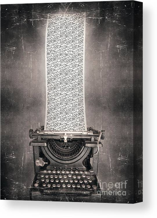 Idea Canvas Print featuring the photograph Surreal Imagine In Black And White Of A by Valentina Photos