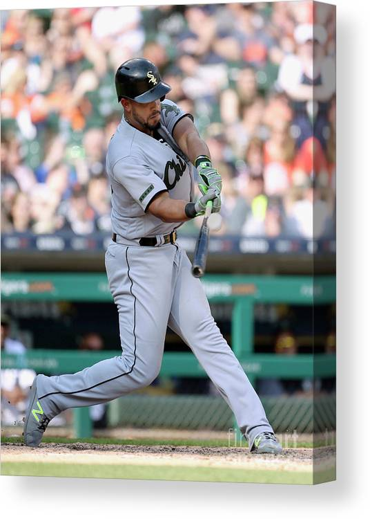 People Canvas Print featuring the photograph Chicago White Sox V Detroit Tigers by Duane Burleson