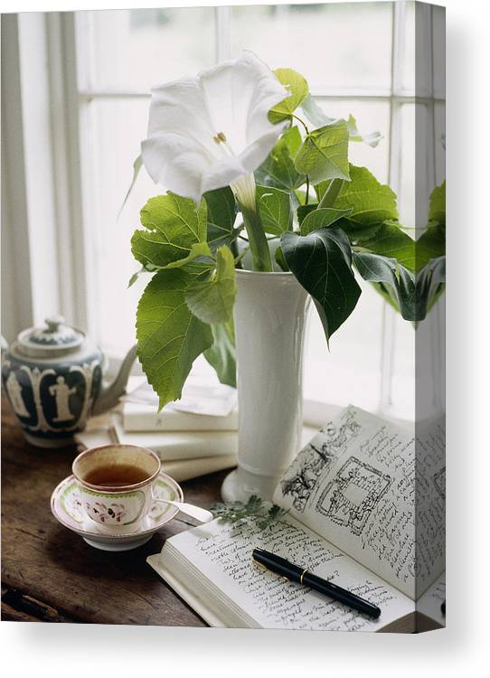 Vase Canvas Print featuring the photograph Still Life by Richard Felber