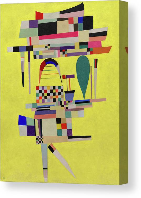 Kandinsky Canvas Print featuring the painting Yellow Painting - La Toile Jaune, 1938 by Wassily Kandinsky