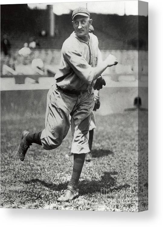 Sports Ball Canvas Print featuring the photograph Honus Wagner by National Baseball Hall Of Fame Library