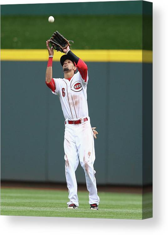 Great American Ball Park Canvas Print featuring the photograph Billy Hamilton by Andy Lyons